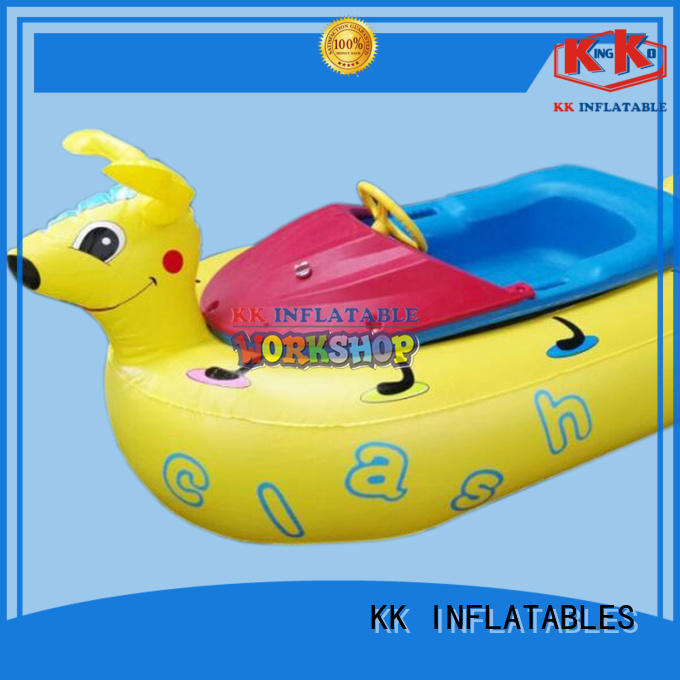 KK INFLATABLE floating inflatable boat supplier for sports games