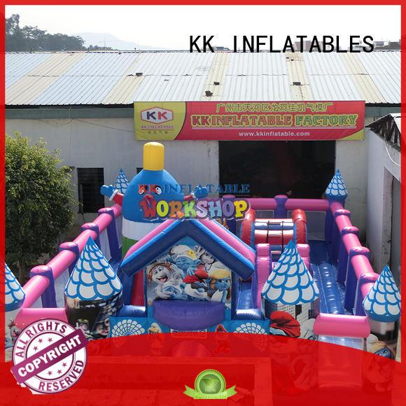 KK INFLATABLE creative blow up obstacle course wholesale for sport games