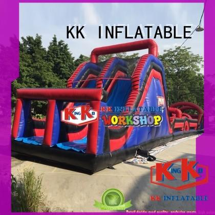KK INFLATABLE multifuntional obstacle course for kids supplier for racing game