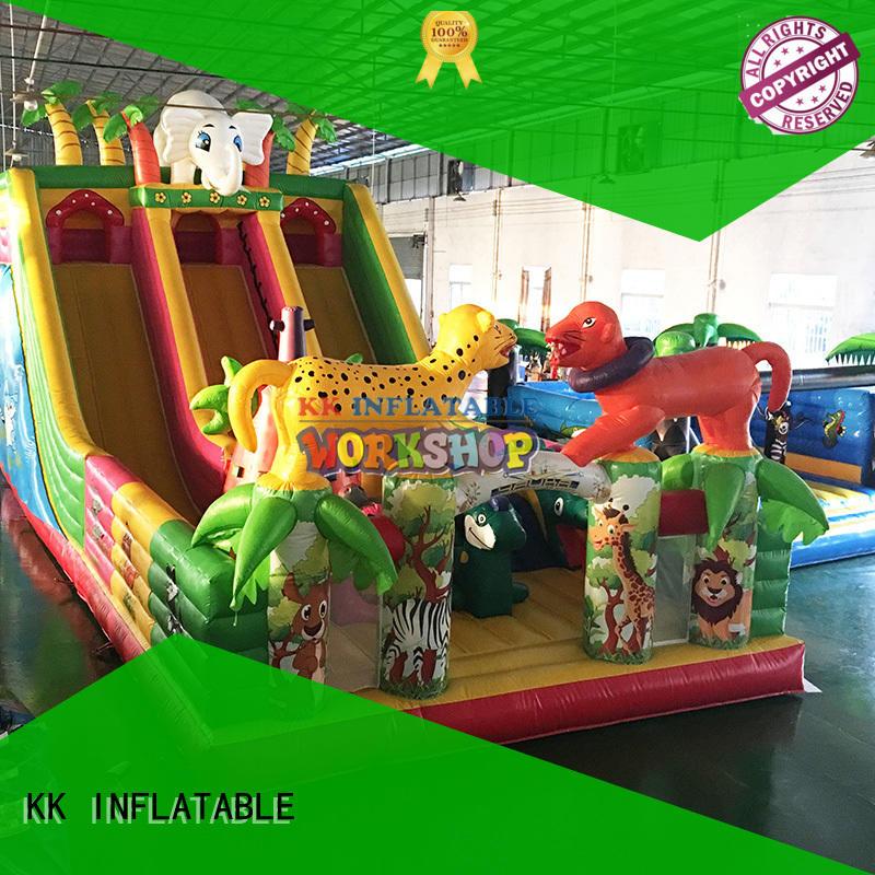 fire truck moonwalks for sale wholesale for outdoor activity KK INFLATABLE
