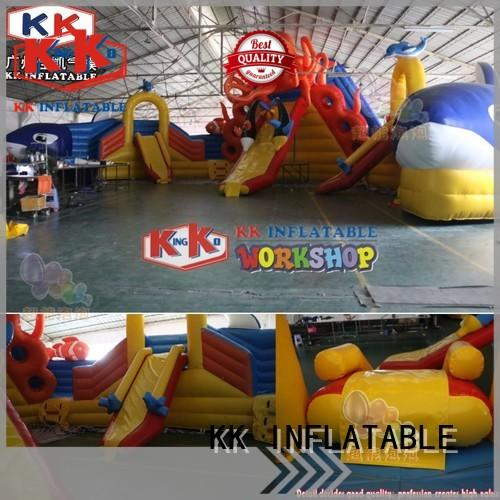 KK INFLATABLE blue inflatable theme park animal modelling for amusement park