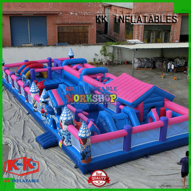 inflatable assault course aircraft for sport games KK INFLATABLE