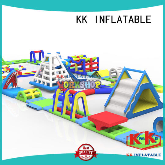 colorful inflatable floating water park animal model supplier for beach seaside