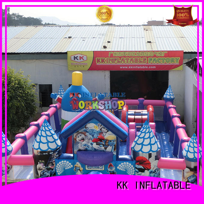 fire inflatable obstacle course shoogle sport KK INFLATABLE company