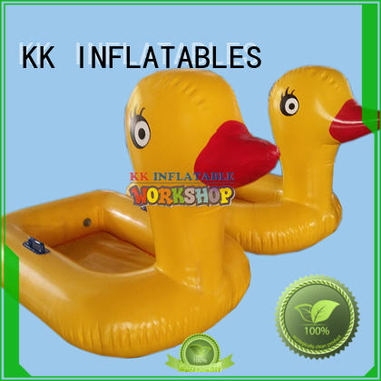 KK INFLATABLE duck inflatable canoe supplier for water park