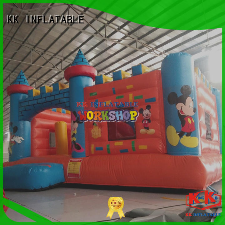 KK INFLATABLE transparent moon bounce supplier for paradise