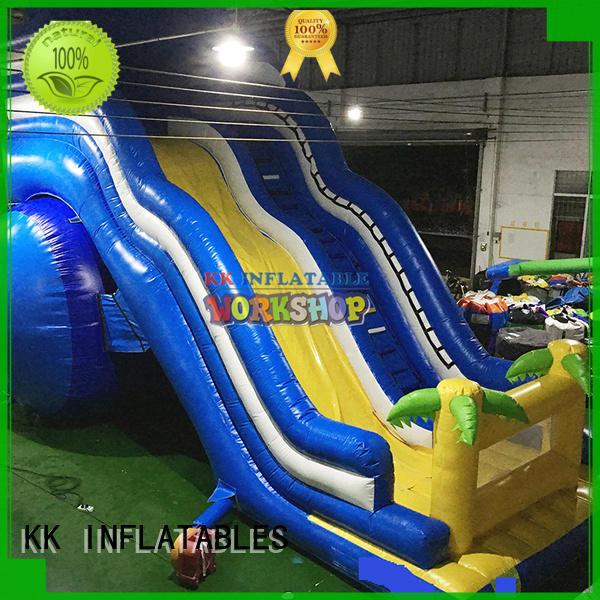 transparent pig bouncy slide manufacturer for parks KK INFLATABLE