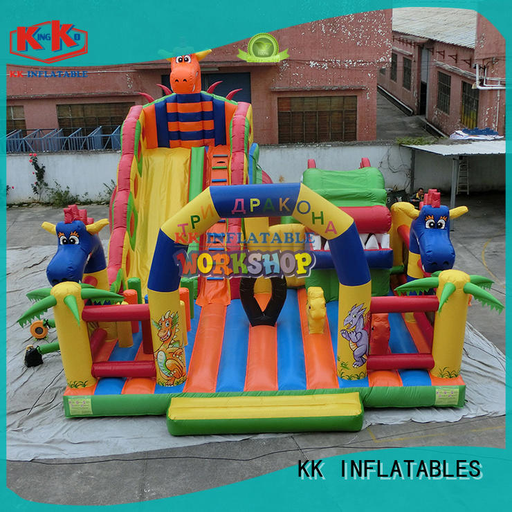 KK INFLATABLE multifuntional inflatable obstacle course panda for adventure