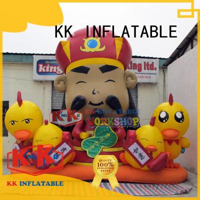KK INFLATABLE cartoon minion inflatable supplier for garden