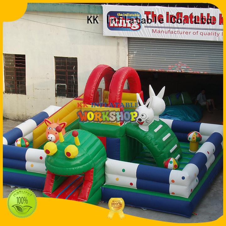 inflatable assault course sport fire inflatable obstacle course inflatable KK INFLATABLE Brand