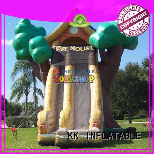 transparent pig inflatable pool slide manufacturer for exhibition KK INFLATABLE