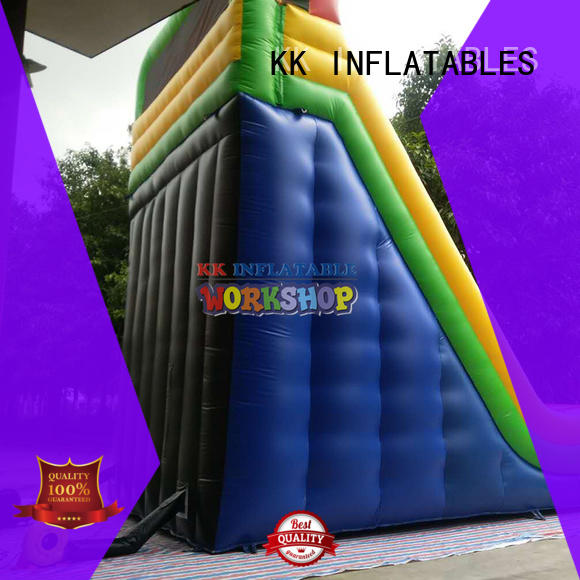 fire truck shape cheap water slides supplier for swimming pool KK INFLATABLE