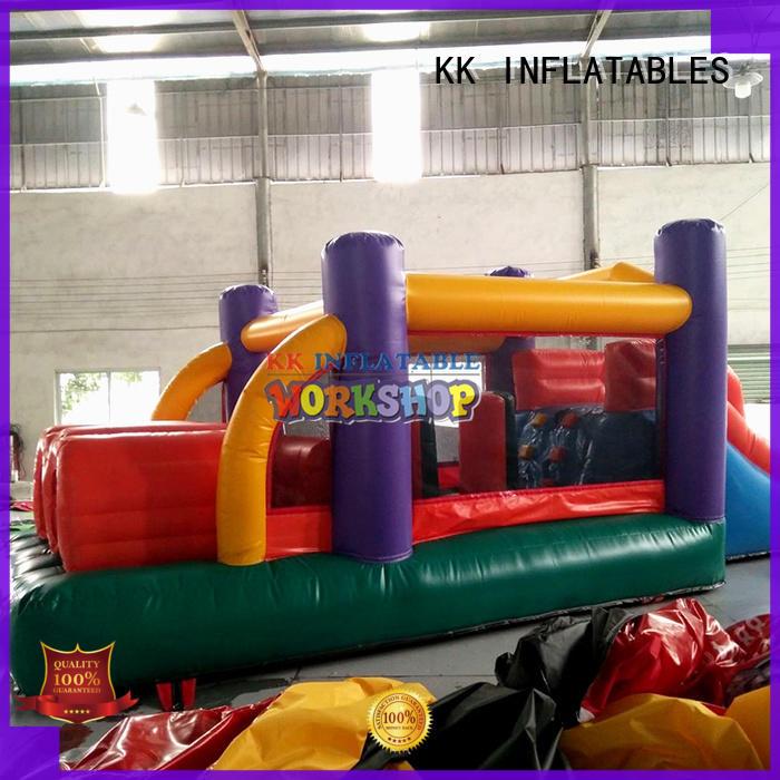customized bouncy slide fire truck shape supplier for paradise